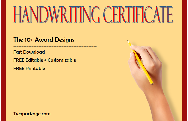 FREE 10+ Handwriting Certificates Printable (The Best Writing Contest Designs)