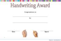 FREE Handwriting Certificate Printable