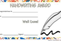 Handwriting Certificate of Award Free Printable 1