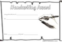 Handwriting Certificate of Award Free Printable 2