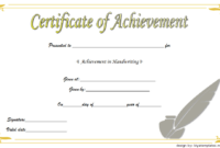 Handwriting Competition Certificate Template Free