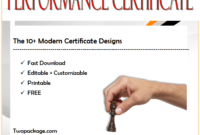 best performance certificate template, energy performance certificate template, outstanding performance award certificate template, performance certificate format in word