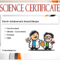 13+ Science Certificate Template Free Printables