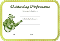 Best Performance Certificate Template Free 1