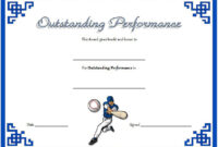 Best Performance Certificate Template Free 2