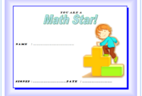Best in Mathematics Certificate Template FREE 1