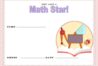 Best in Mathematics Certificate Template FREE 2