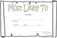 FREE Most Likely Succeed to Certificate Template 4