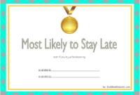 FREE Most Likely to Certificate Template Printable 1