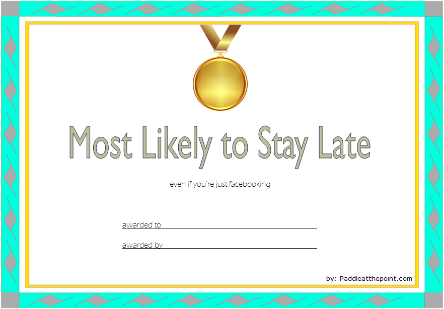 most likely to certificate template, most likely to certificate ideas, most likely to succeed certificate, most likely to succeed award template, best award certificate template