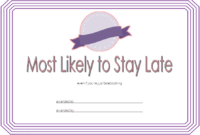 FREE Most Likely to Certificate Template Printable 3