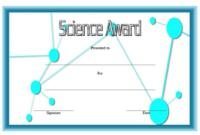 FREE Printable Science Award Certificate Template 2