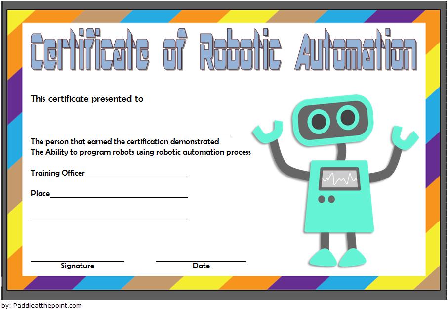 robotics certificate template, certificate in robotics, robotics engineering certificate, robotics technician certificate, robotics club certificate