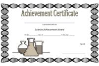 FREE Science Achievement Certificate Template 3