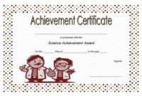 FREE Science Achievement Certificate Template 4