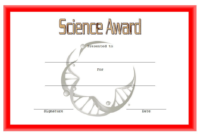 FREE Science Award Certificate Template 1