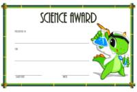 FREE Science Award Certificate Template 2