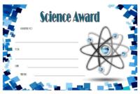 FREE Science Award Certificate Template 3