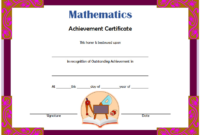 Math Achievement Certificate Template Free Download 01