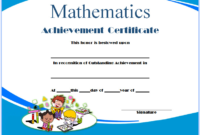 Math Achievement Certificate Template Free Download 02