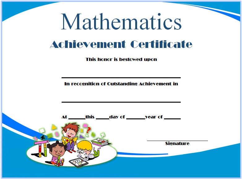 math achievement award certificate templates, math award certificate template, math achievement certificate template, math olympiad certificate template, best in mathematics certificate template, mathematics achievement certificate