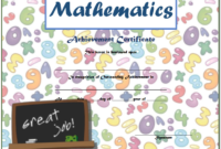 Math Achievement Certificate Template Free Download 03