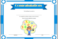 Math Olympiad Certificate Template Free Printable 02