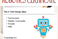 robotics certificate template, certificate in robotics, robotics engineering certificate, robotics technician certificate, robotics club certificate