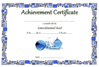 Science Certificate of Achievement Template Free 1