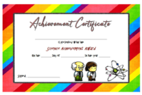 Science Certificate of Achievement Template Free 2