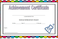 Science Certificate of Achievement Template Free 3