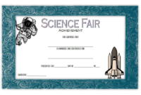 Science Fair Award Certificate Printable Free 1
