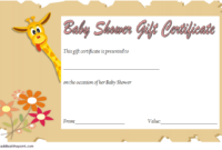 Baby Shower Gift Certificate Template FREE (1st Idea)