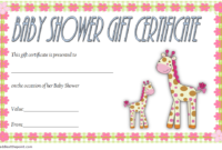 Baby Shower Gift Certificate Template FREE (3rd Idea)