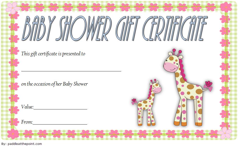 baby shower gift vouchers, baby shower gift certificate template free, baby shower gift certificate ideas