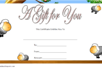 Baby Shower Gift Certificate Template FREE (Flying Sheep)