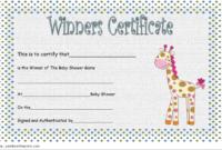 Baby Shower Winner Certificate Free Printable (1st Design)