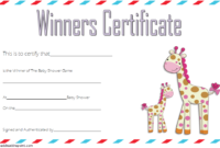 Baby Shower Winner Certificate Free Printable (2nd Design)