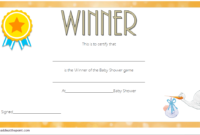FREE Baby Shower Game Winner Certificate Template (2nd Design)