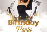 1st Birthday Flyer Template PSD Free Design