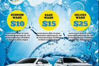 1st Car Wash Flyer Template PSD Free Design