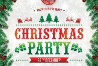 1st Christmas Event Flyer Template Word Format Free Design