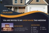 1st Example of Open House Flyer Template Design