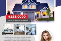 1st Real Estate for Sale Flyer Template Free Idea