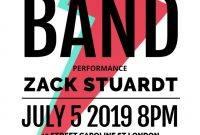 1st Rock Concert Flyer Template free Design