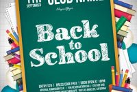 2021 Back to School Event Flyer Template Free Design