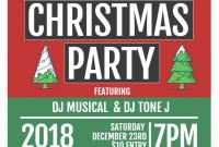 2nd Christmas Event Flyer Template Word Format Free Design