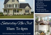 2nd Example of Open House Flyer Template Design