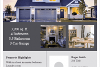 2nd Real Estate Sales Flyer Template Free Idea