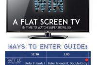2nd TV Raffle Flyer Template Free Design Sample